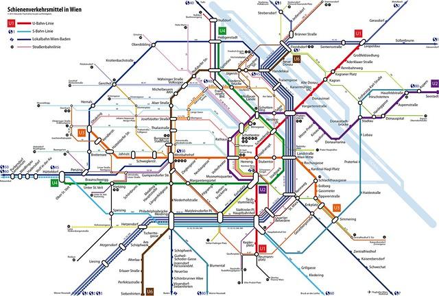 U-Bahn, S-Bahn und Straßenbahn in Wien (ab Oktober 2013)