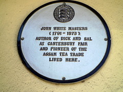 Photo of John White Masters white plaque