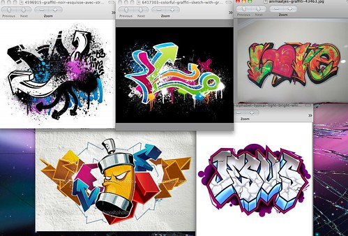 Screen Shot of Graffiti Images (Urban)