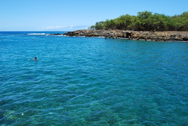 Snorkelers at Mahukona