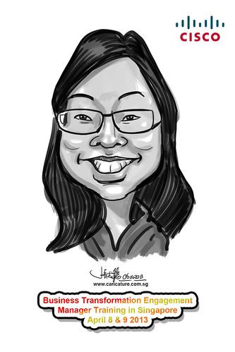 digital caricature for Cisco - 5