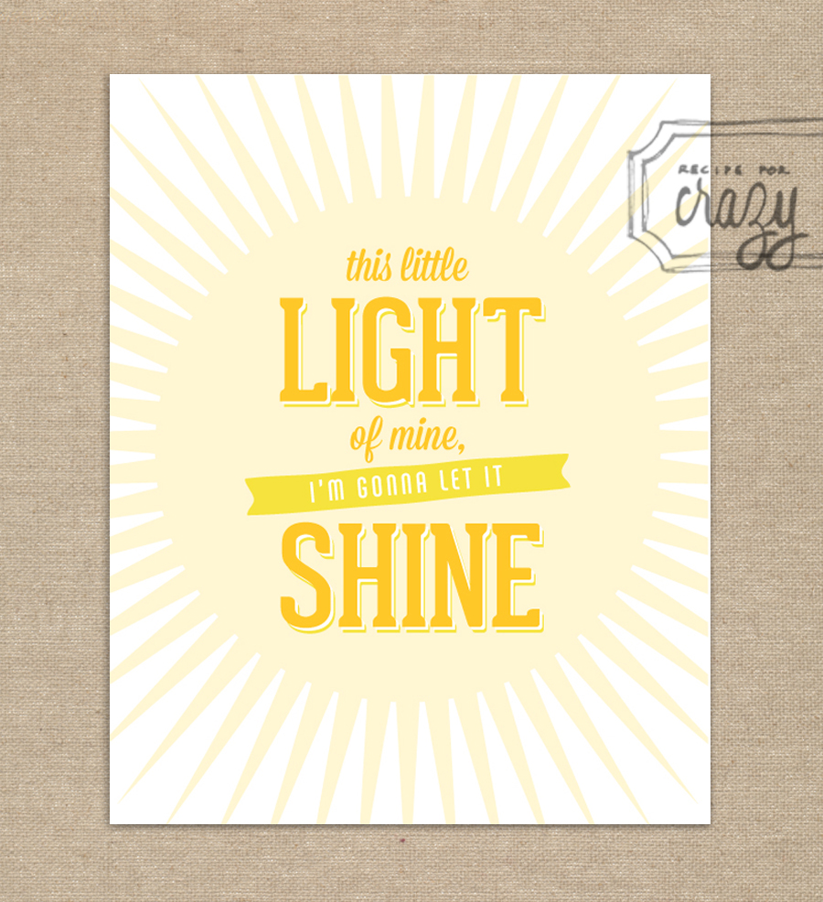 this little light of mine, i'm gonna let it shine - 8x10 print