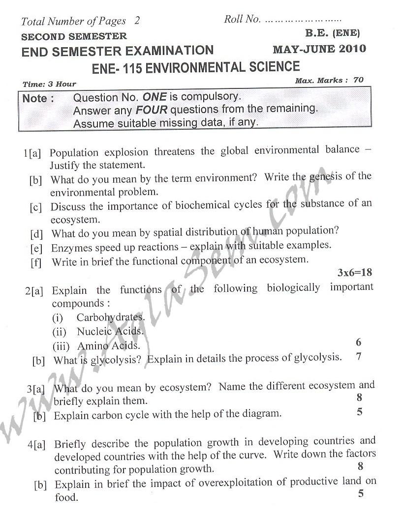 DTU Question Papers 2010 – 2 Semester - End Sem - ENE-115