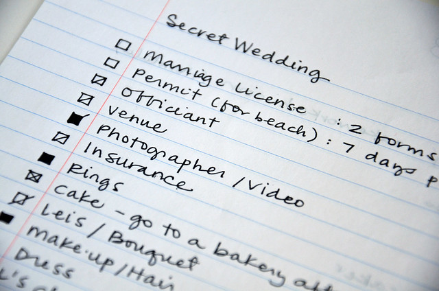 how to plan a wedding in 10 days