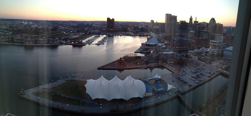Baltimore Inner Harbor, evening
