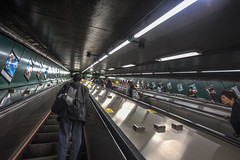 """炮台山地鐵站電梯 Fortress Hill MTR Station Escalator"" / 香港人流 Hong Kong Human Logistics / SML.20130413.6D.00481.TM"
