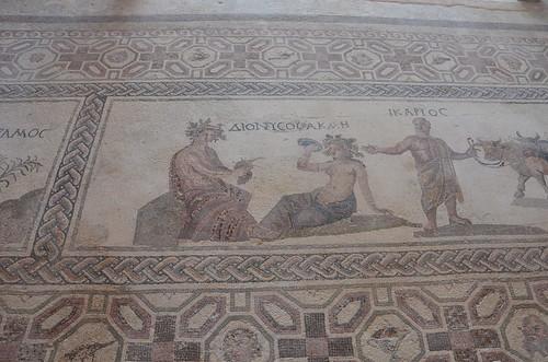 Haus des Dionysos benannt nach diesem Mosaik