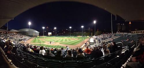 Jackets Baseball At Night