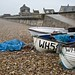 Fishing boats on Chesil Beach