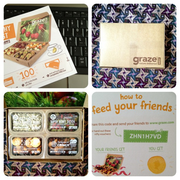 My first #grazebox I can't wait to try it #snailmail #food #snack #healthy
