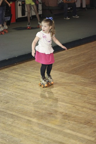 First time at the Skating Rink with Cheyenne