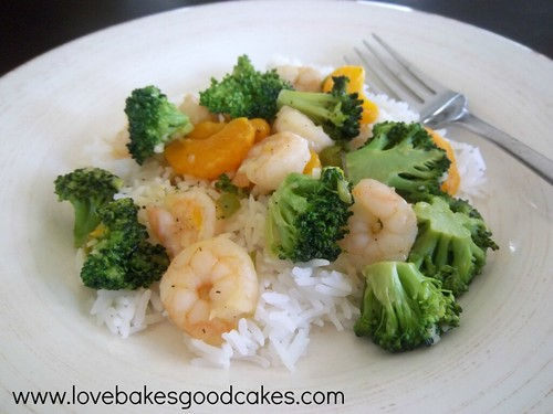 orange and broccoli shrimp
