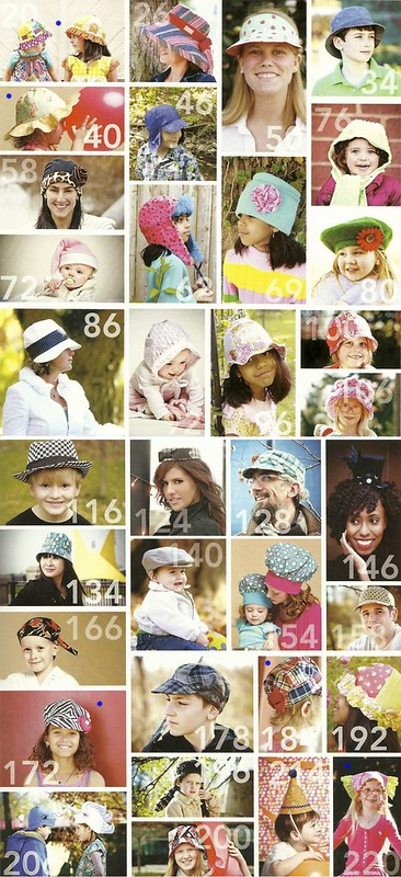 Sewn Hats designs / blue dot patterns only contain children's sizes