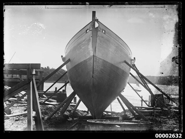 Large hull in slipway, Sydney Harbour