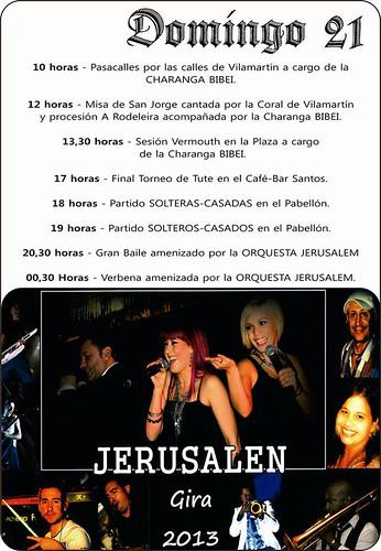 O Barco de Valdeorras 2013 - Festas de San Xurxo en Vilamartín - cartel 2º día