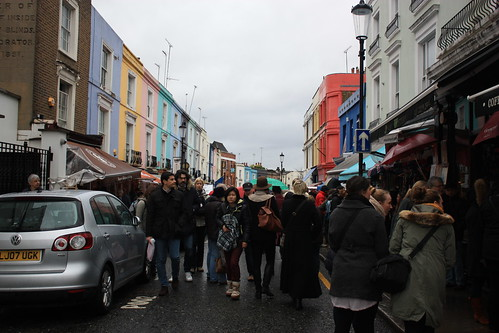 The Crowds at Portobello Road London