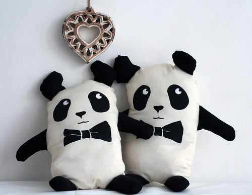 Hand Screen printed Plush Panda