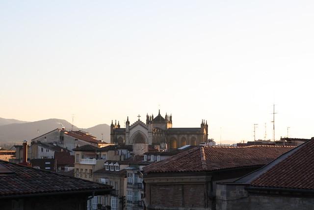 Luz suave en puesta de sol en Vitoria-Gasteiz