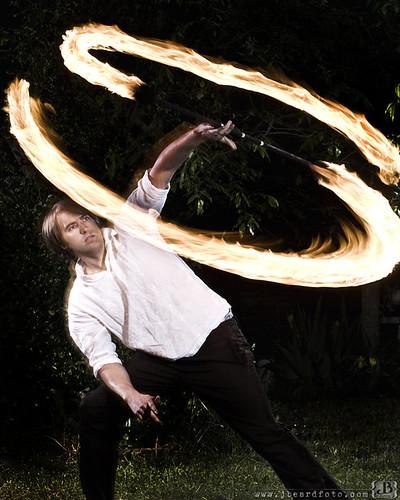 Fire juggler!