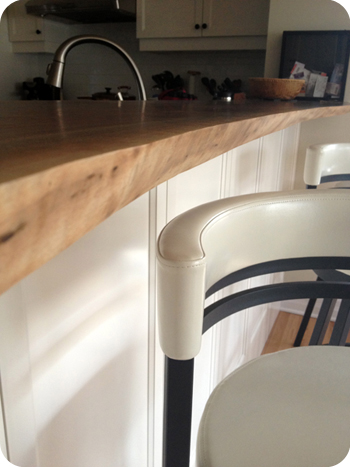 Live edge breakfast bar by naCoille Studio in Ottawa