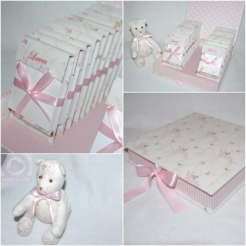 Lembrancinha + caixa + mini urso de tecido by LEME´S ARTE / By Helenita Leme