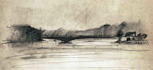 Ferdosi Bridge by Behzad Bagheri Sketches
