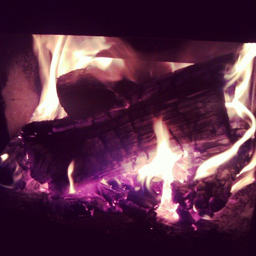 The first fire of the season! #thejoyincolddays #hadtotalkhimintoit