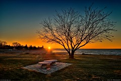 When sunset rays of light still caress the earth