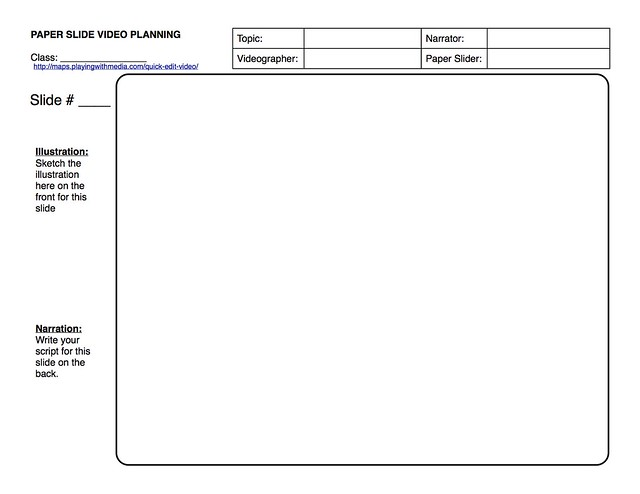 Paper-Slide Video Rubric and Planning Guide 3 of 3