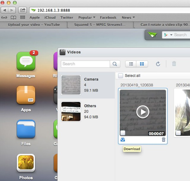 AirDroid Video Transfer