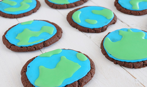 Earth Cookies from Sugar for the Brain
