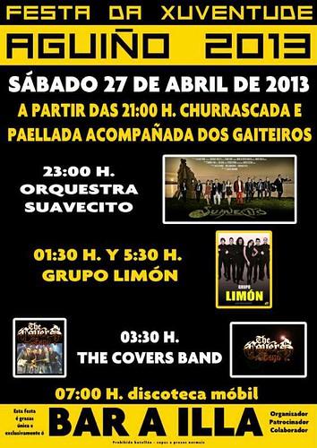 Ribeira 2013 - Festa da Xuventude de Aguiño - cartel