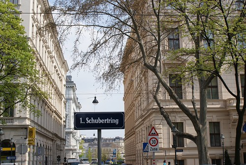 Each part of the Ringstraße has a name, I liked the Schubertring section a lot.