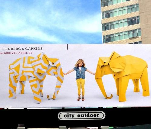 origami-animals-gap-kids-billboard