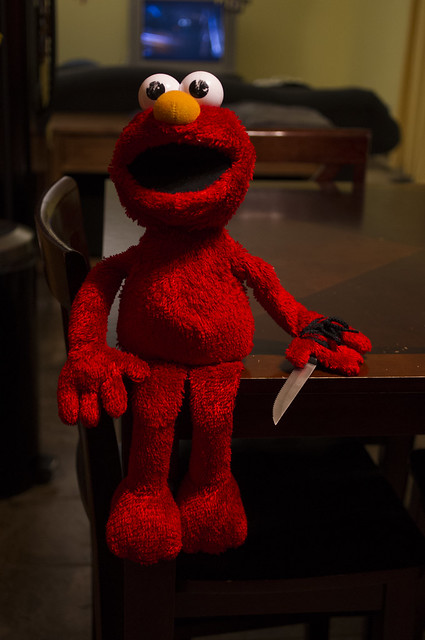Elmo wants to play DEATH