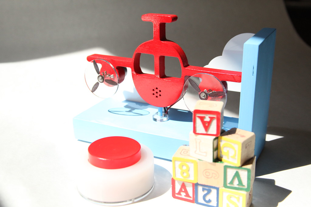Airplane, Blocks, and Button