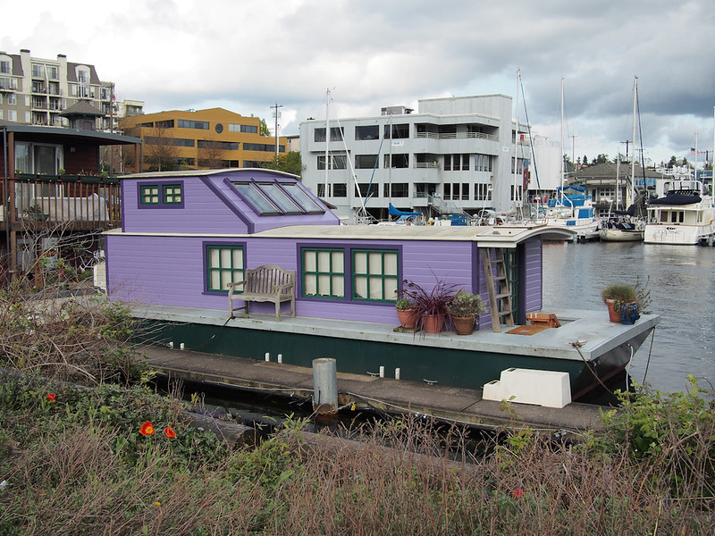 purple house boat