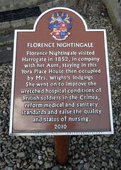 Photo of Florence Nightingale brown plaque
