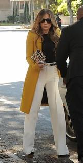 Jennifer Lopez White Trousers Celebrity Style Women's Fashion