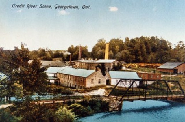 Barber Paper Mill postcard