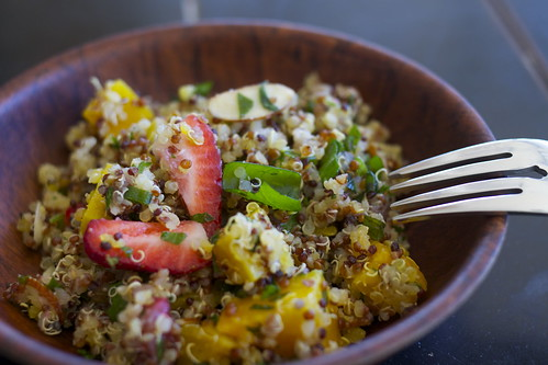 Red Quinoa Tabbouleh and Spring Break
