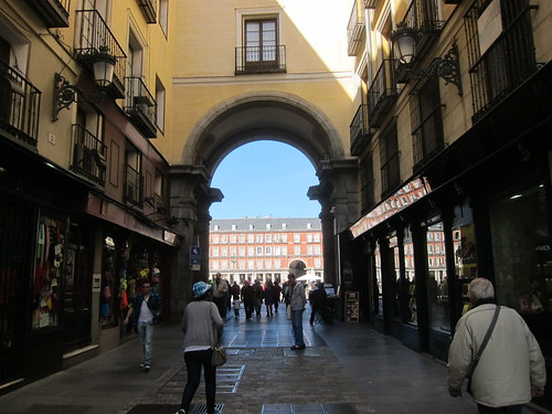 Approaching the Plaza Mayor, Madrid by Michael Tinkler
