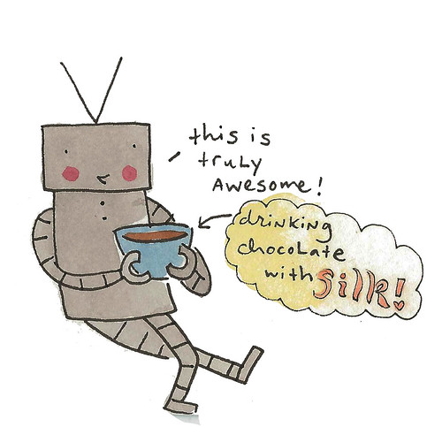 Robots love soy milk