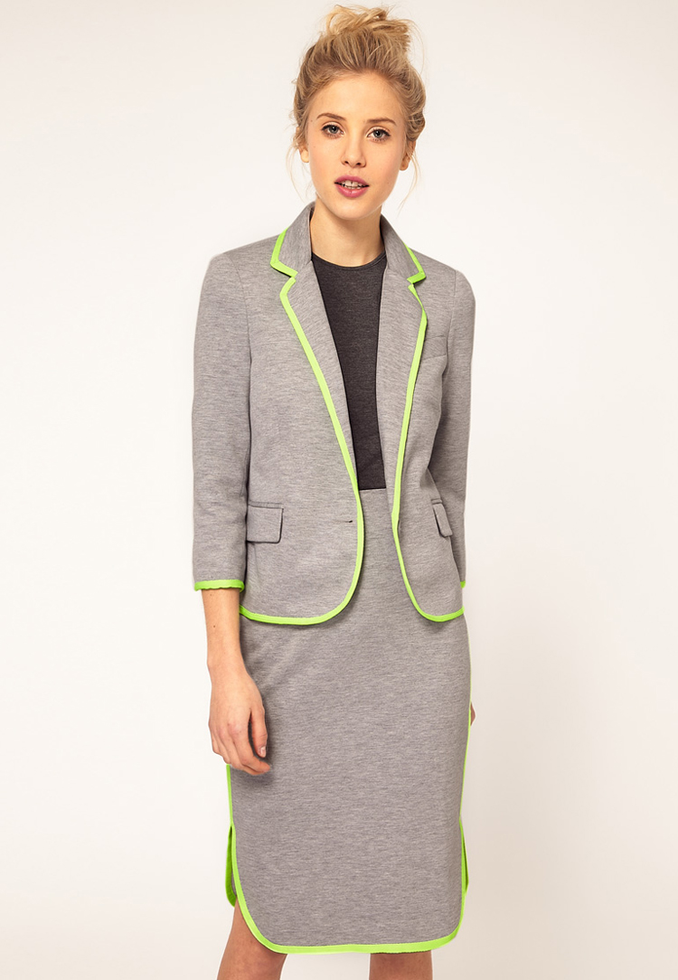 ASOS Boyfriend Blazer With Fluro Trim