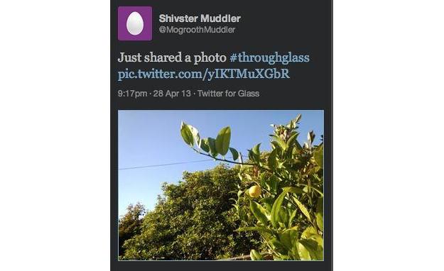 Aplicación de Twitter para Google Glass