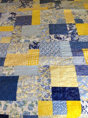 C's Blue/Yellow quilt