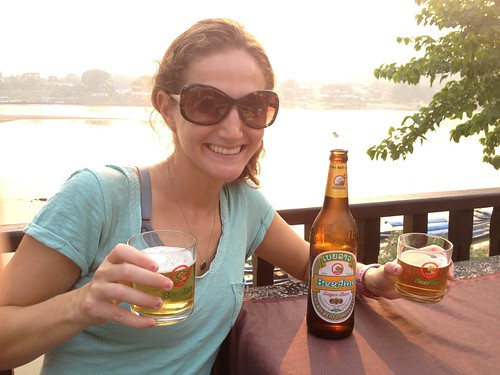 First beer in Laos!