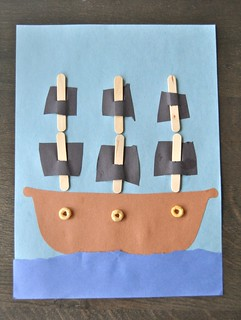 Pirate Ship Craft w/ Cutting Strips