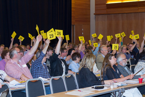 Avstemming på Human-Etisk Forbund sitt landsmøte 2013. Foto: Dan-Raoul Husebø Miranda