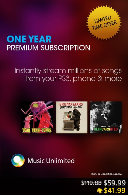 Music Unlimited sale